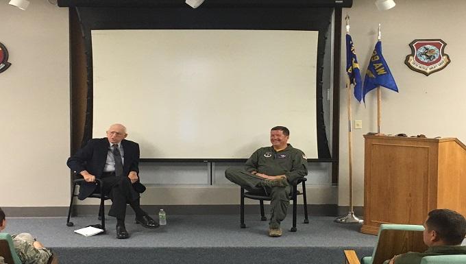 Korean War veteran speaks to Airmen at Rosecrans
